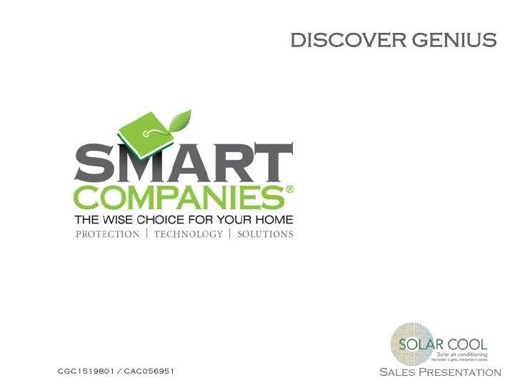 DISCOVER GENIUSCGC1519801 / CAC056951         Sales Presentation