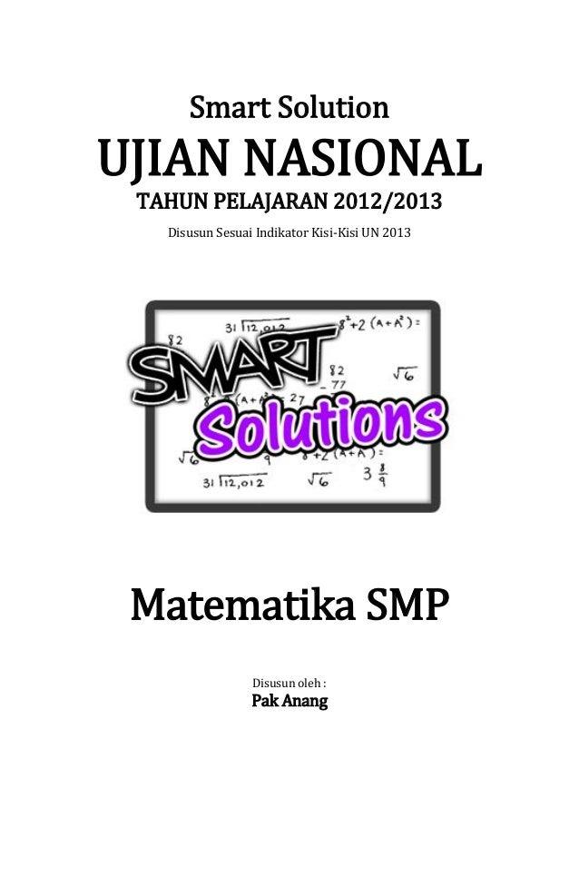 Smart solution un matematika smp 2013 (skl 1.1 operasi hitung bilangan