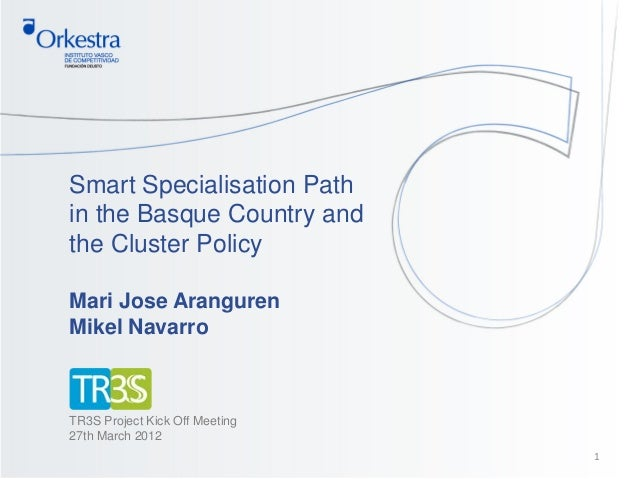 Smart specialisation path in the basque country and the cluster policy