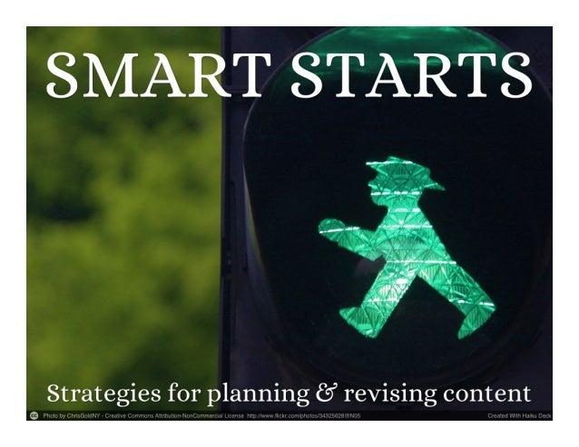 Smart starts  3 writing strategies