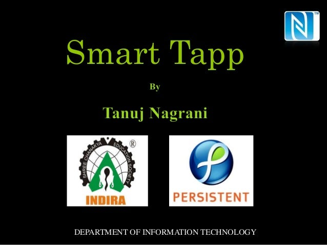 Smart TappDEPARTMENT OF INFORMATION TECHNOLOGY