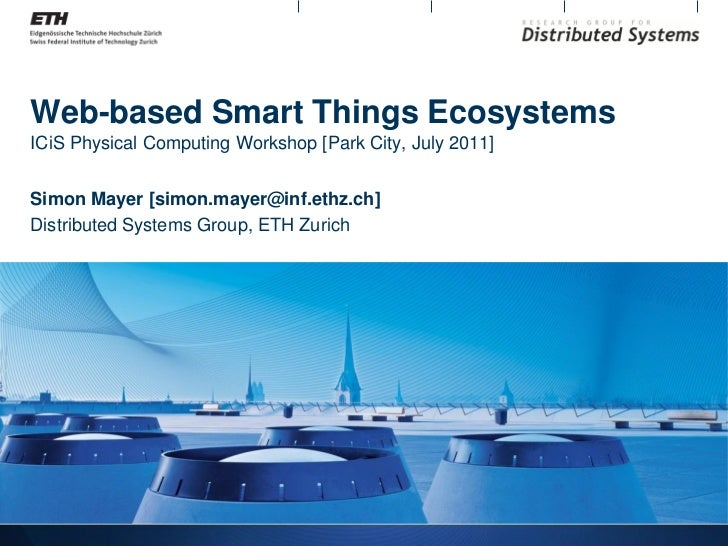 Web-based Smart Things Ecosystems