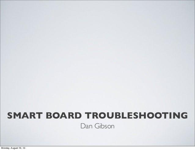 Smart troubleshooting