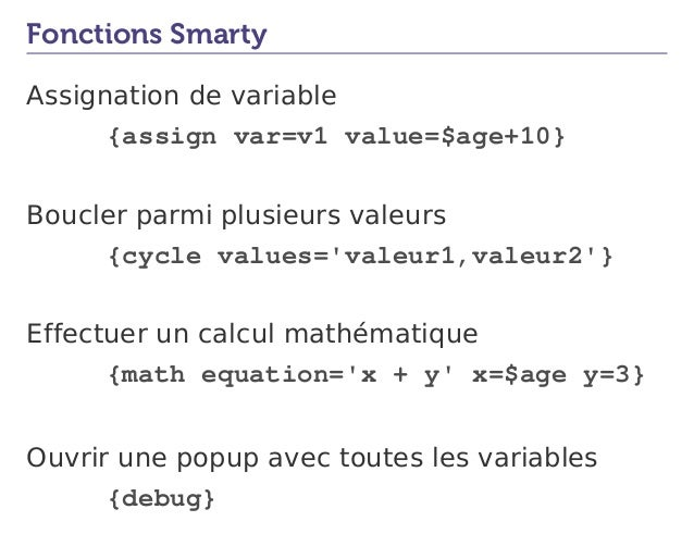 Smarty assign