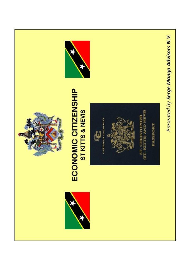 SMA St Kitt  Nevis Economic Citizenship Presentation April 2009