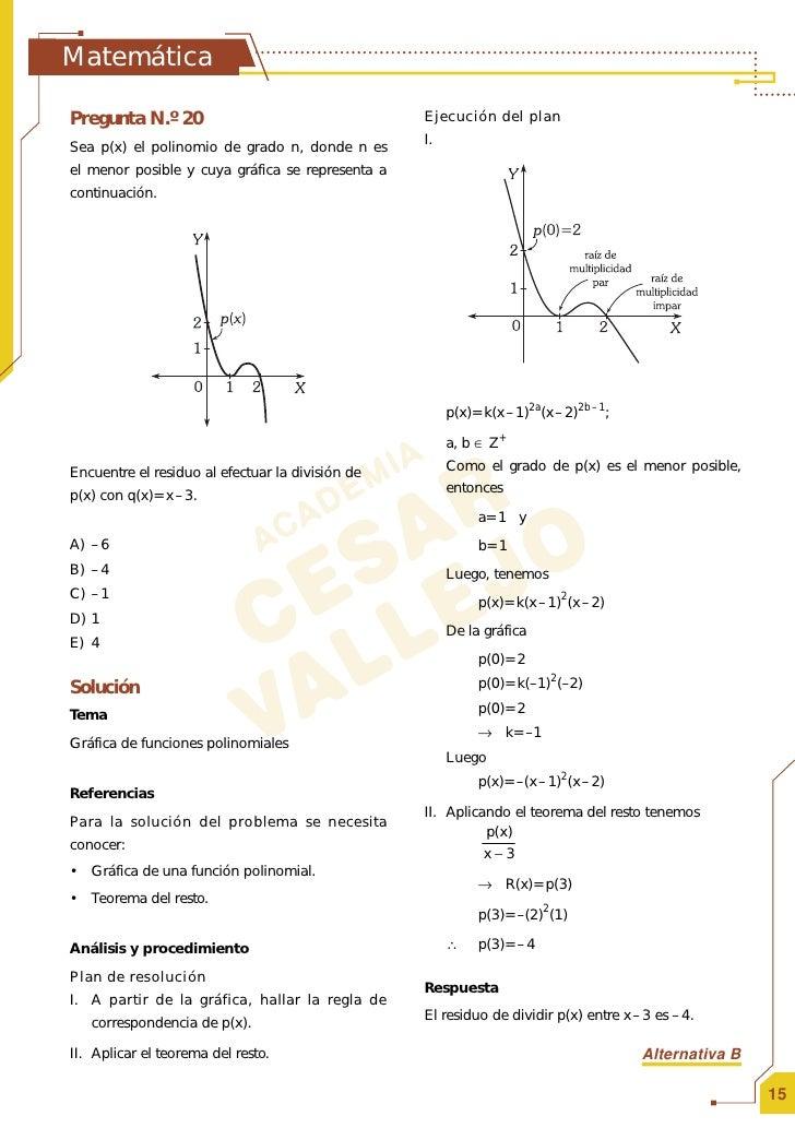 SOLUCIONARIO EXAMEN DE ADMISION UNI MATEMATICA II 2009 I