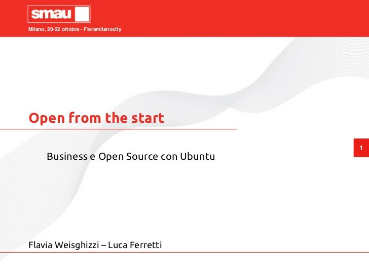 Open From the Start - Business e Open Source con Ubuntu