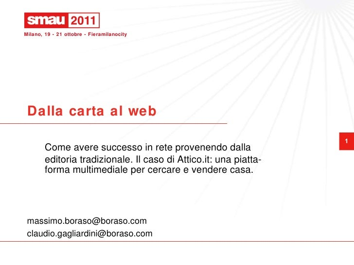 Case Study Attico.it - SMAU Milano 2011