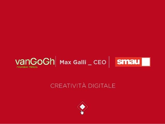 Smau Bologna 2014 - CREATIVITÀ INTERATTIVA