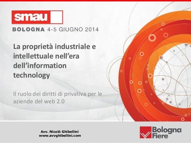 Titolo della presentazione Avv. Nicolò Ghibellini www.avvghibellini.com La proprietà industriale e intellettuale nell'era ...