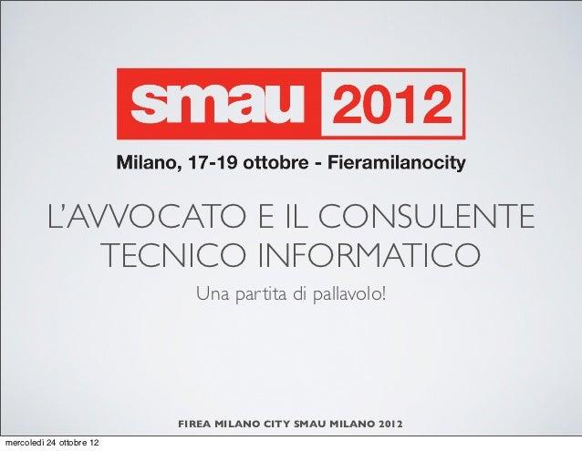 Smau Milano 2012 Stefano Fratepietro - Una partita di pallavolo