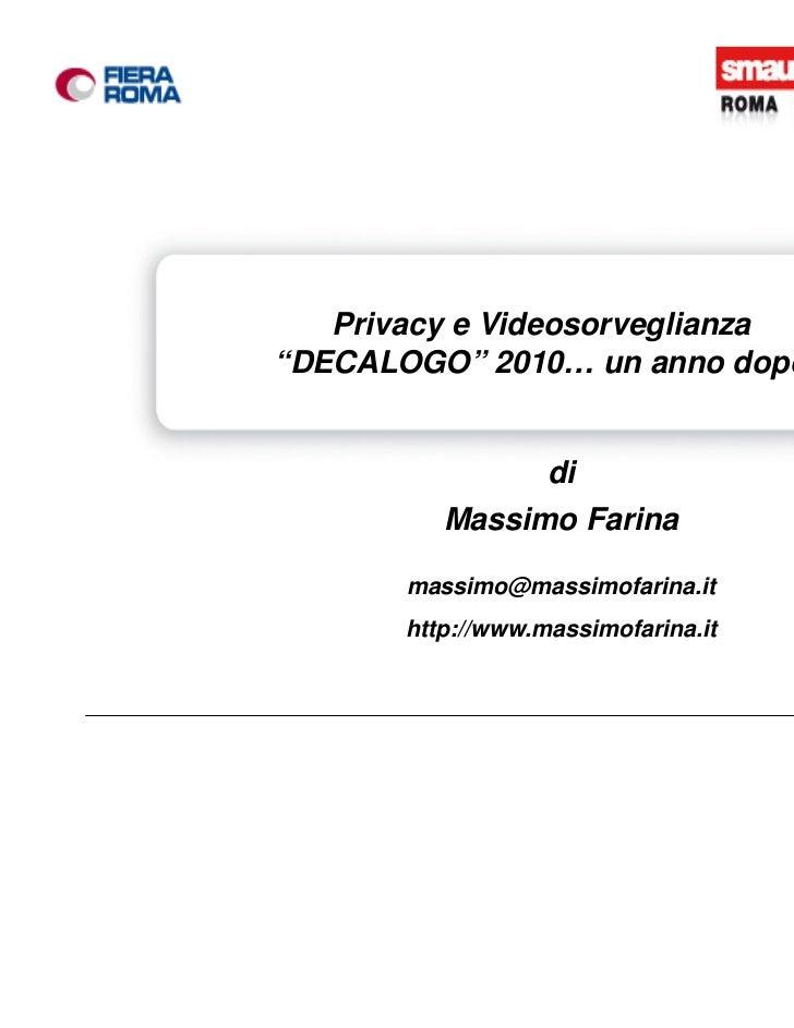 Smau Roma 2011 Massimo Farina