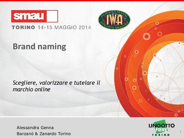 Brand Naming: Scegliere, valorizzare e tutelare il marchio on line