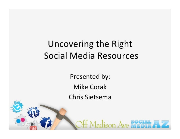 SMAZ 2010 - Social Media Resourcing - How to contract the right type of help