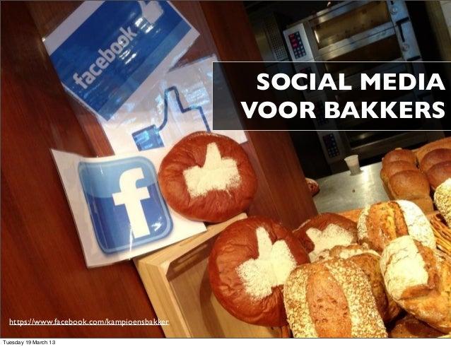 Social media voor bakkers