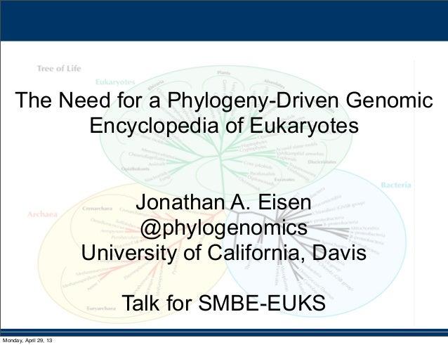 The need for a phylogeny driven genomic encyclopedia of eukaryotes #SMBEEuks