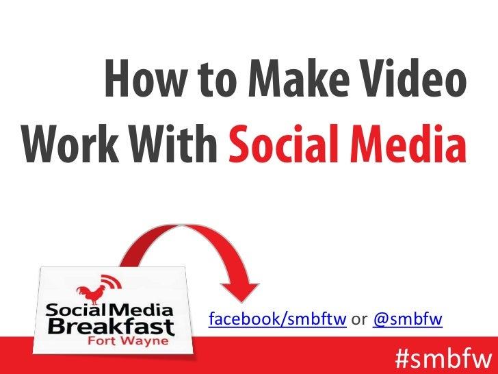 How to Make VideoWork With Social Media         facebook/smbftw or @smbfw                            #smbfw