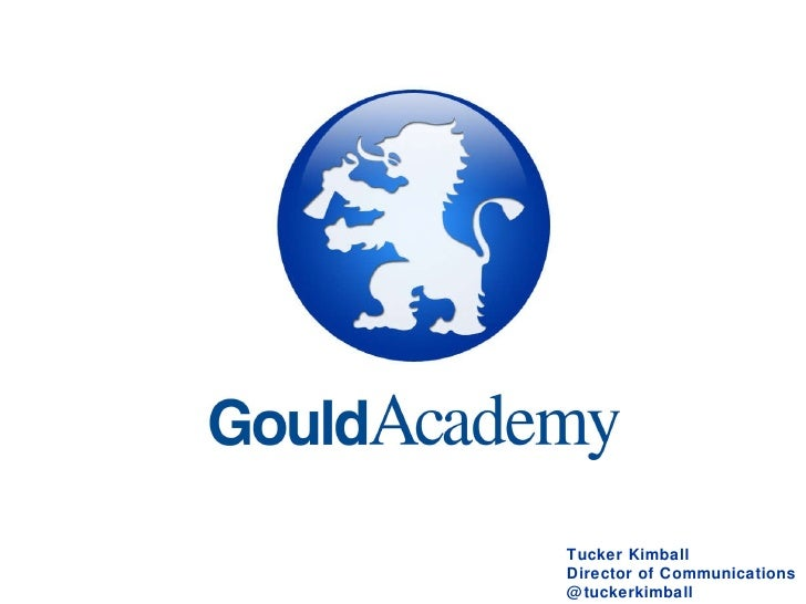 Gould Academy's Use of Social Media
