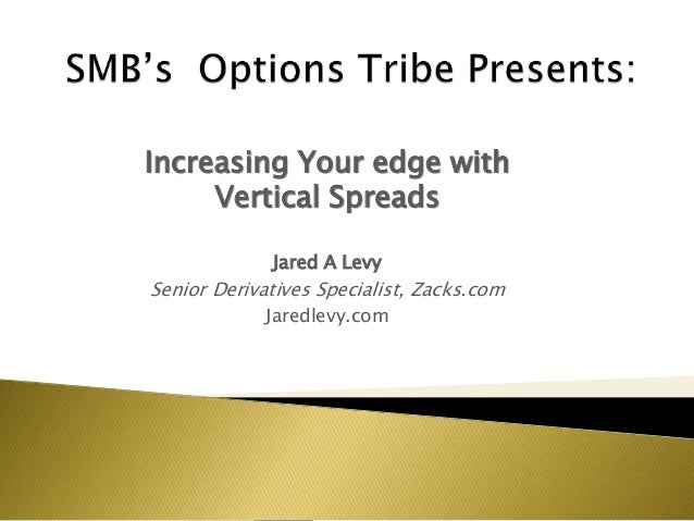 Increasing Your edge withVertical SpreadsJared A LevySenior Derivatives Specialist, Zacks.comJaredlevy.com