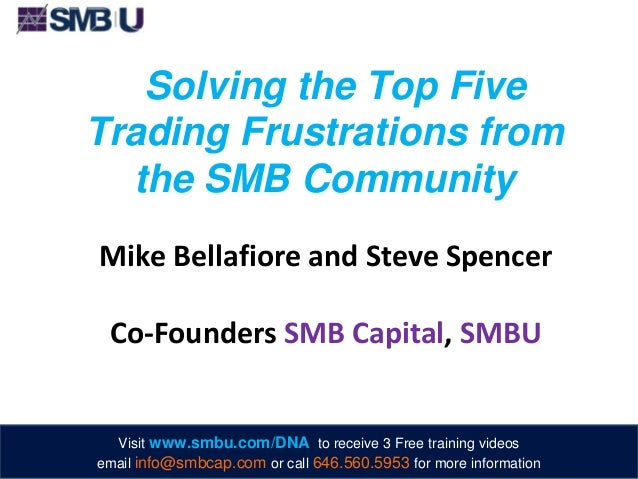 Solving the Top Five Trading Frustrations from the SMB Community Mike Bellafiore and Steve Spencer Co-Founders SMB Capital...