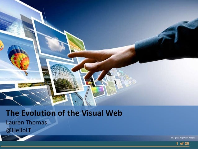 The Evolution of the Visual Web