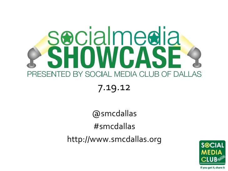 Social Media Club of Dallas Social Media Showcase II