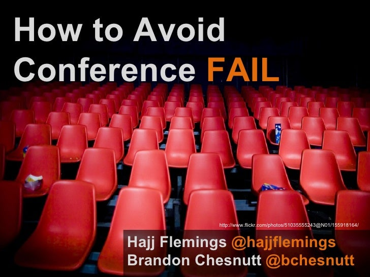 How to Avoid Conference Fail - Social Media Club Detroit Presentation