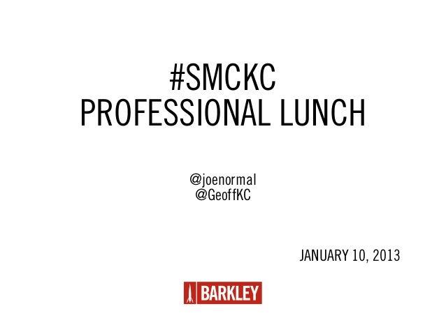 SMCKC January Pro Lunch- Barkley