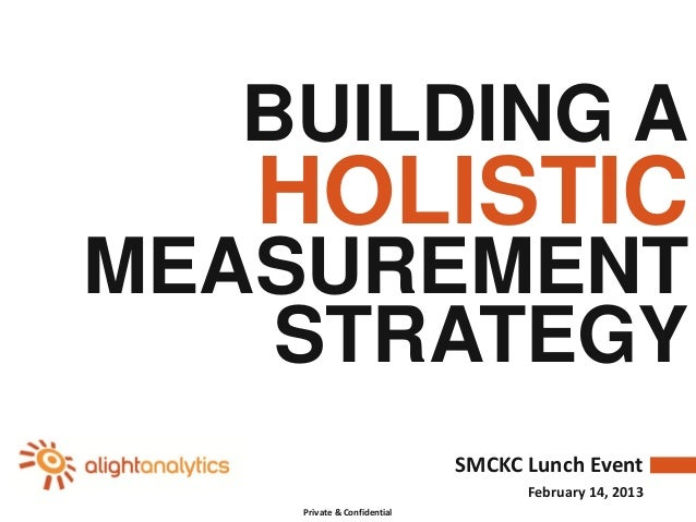 BUILDING A   HOLISTICMEASUREMENT   STRATEGY                             SMCKC Lunch Event                                 ...