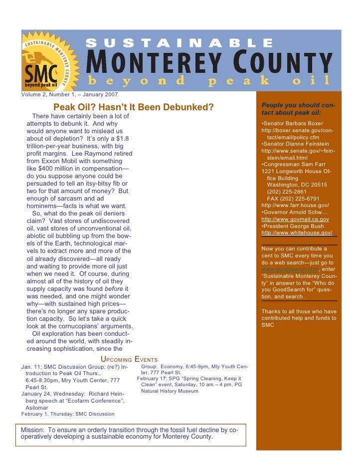 Smc Newsletter January 07