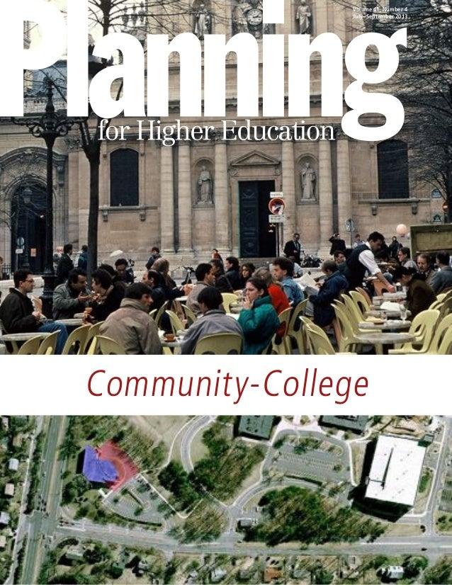 Volume 41, Number 4 July–September 2013  Community-College
