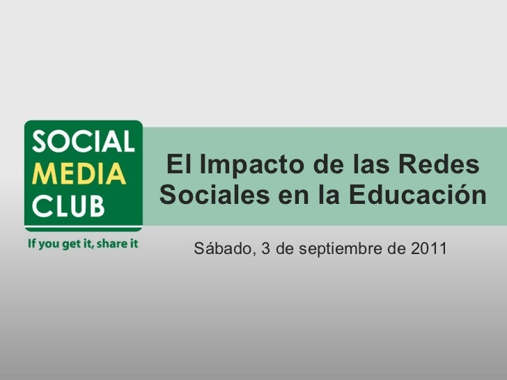 El Impacto de las Redes Sociales en la Educación