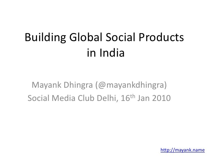 Building Social Products in India