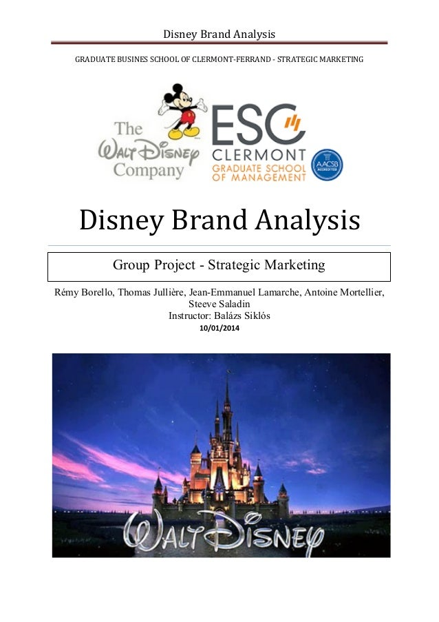 walt disney company analysis and marketing Here is the marketing strategy of walt disney the american multinational is the leader in america entertainment industry offering diversified services company.