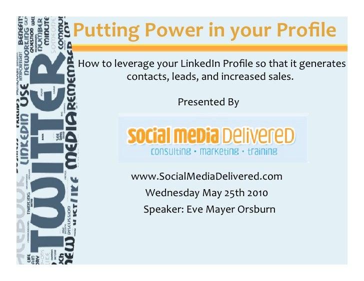 Smd vistage presentation 0525