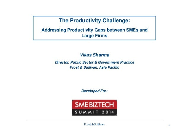 1Frost & Sullivan The Productivity Challenge: Addressing Productivity Gaps between SMEs and Large Firms Vikas Sharma Direc...