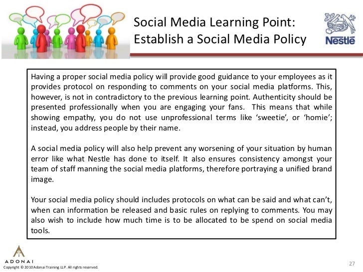 social media policy case study Here are the major findings of 7 social media psychology studies that will make your  social media psychology studies social media tips  comment policy.