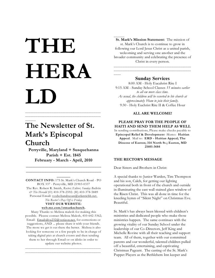 SEQ CHAPTER h  1THE HERALD<br />________________________________________________________________________________________...