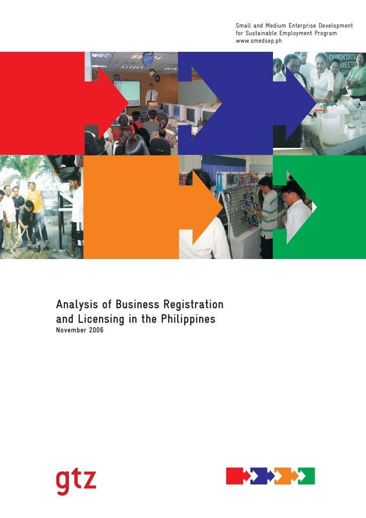 SMEDSEP Business Reg Licensing in RP