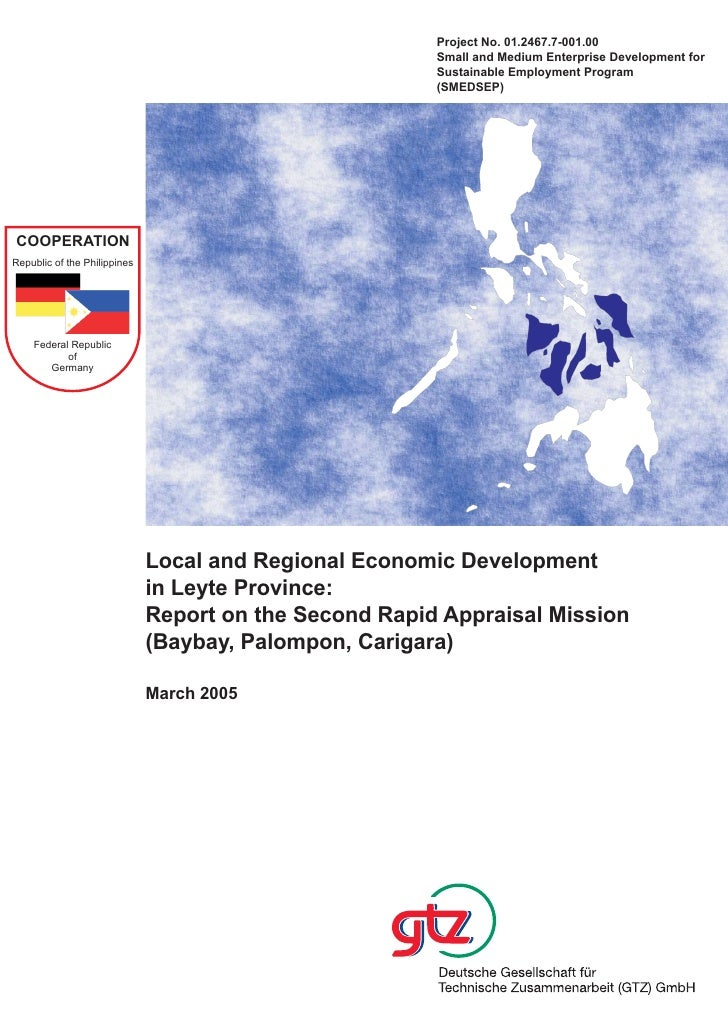 Local and Regional Economic Development in Leyte Province