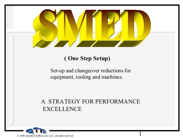 1© 2000, QualityToolBox.com, LLC, all rights reserved A STRATEGY FOR PERFORMANCE EXCELLENCE ( One Step Setup) Set-up and c...