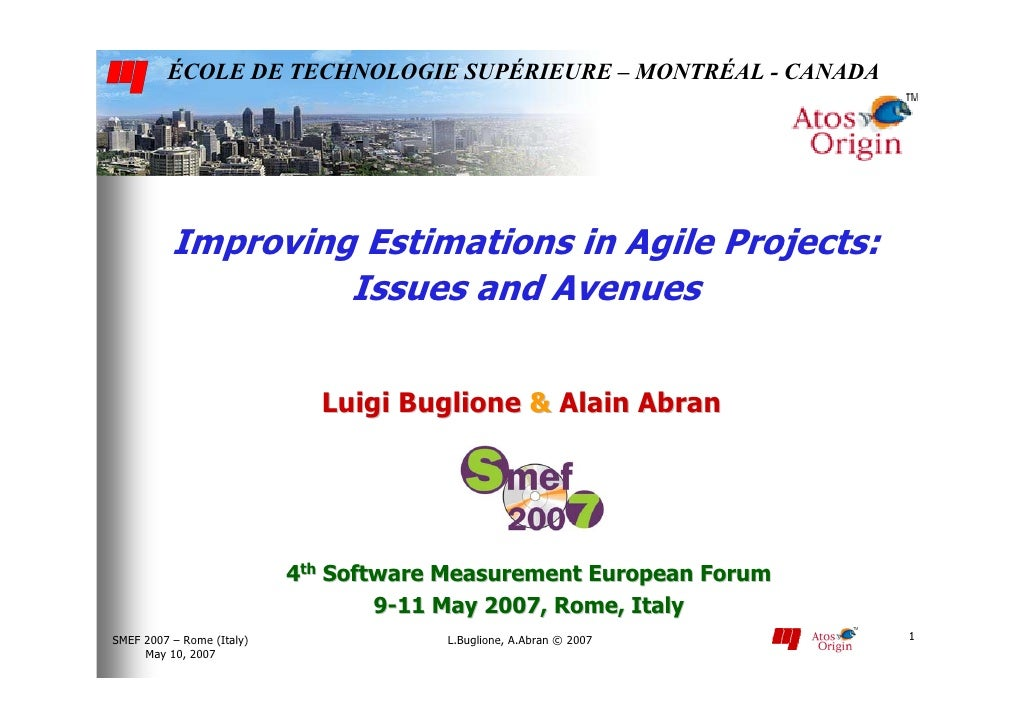 Improving Estimations in Agile Projects: Issues and Avenues