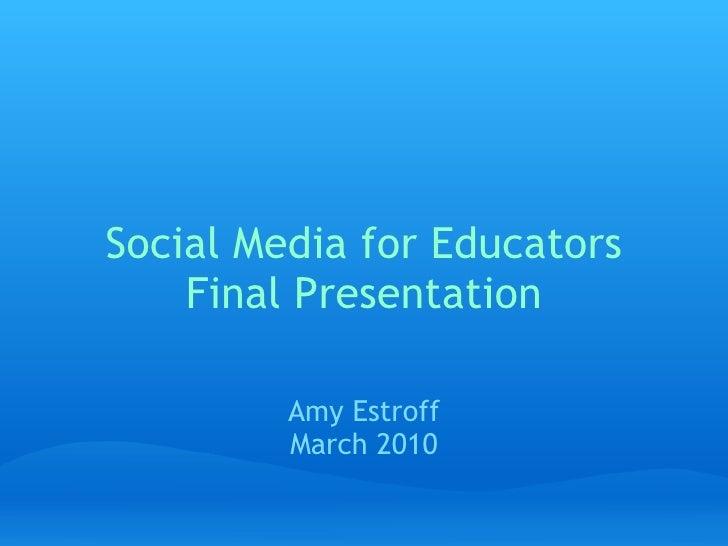 Sme Final Presentaion 3 2010