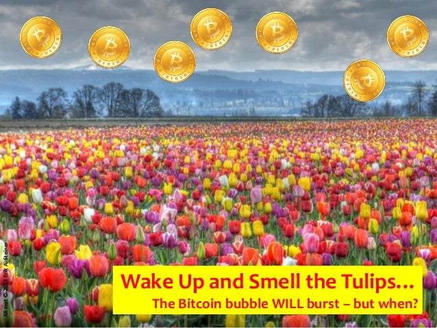 Bitcoin Crash => Wake up and Smell the tulips - When will the Bitcoin Bubble burst?