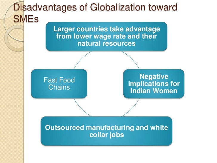 the disadvantages of globalisation Free essay: globalization is the shrinking of the world and the increased consciousness of the world as a whole it is a term used to describe.