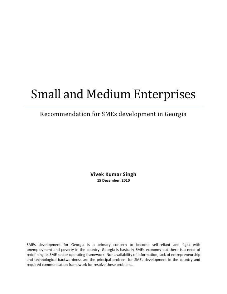 SME development in georgia
