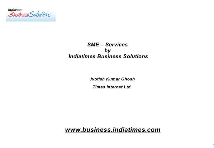 SME – Services by Indiatimes business solutions by Jyotish