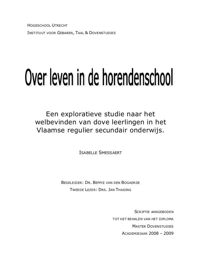 Smessaert i (2009) over leven in de horendenschool