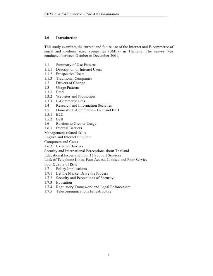 SME survey Thailand 2001