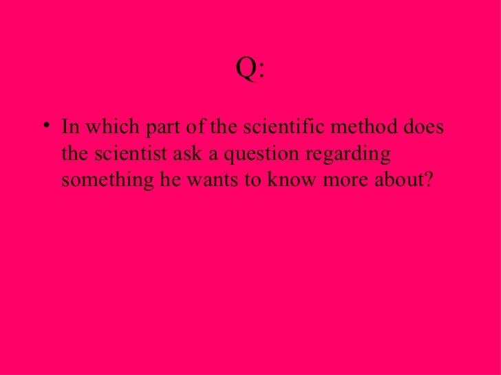 Scientific Method Flashcards